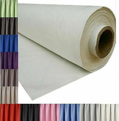 3 Pass Blackout Thermal Curtain Lining Fabric Material 12 Colours Sold Per Metre