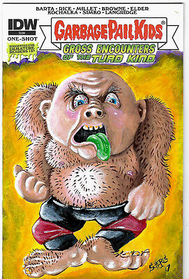 Garbage Pail Kids Comic Book Sketch Cover George The Animal Steele Art Scheres