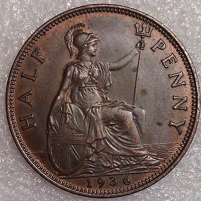Great Britain 1/2 Penny 1936 Great Coin!