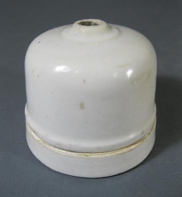 Vintage Victorian deco porcelain ceiling light baton mount
