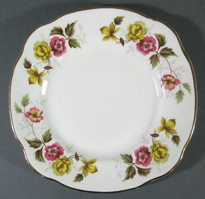 Shabby vintage Duchess 'Romance' English china plate- pink/yellow flowers