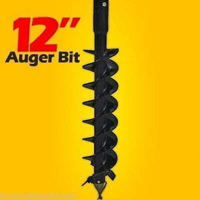 "12"" Auger Bit for Post Hole Auger,Fits all 2"" Hex Drive Augers,Weighs 120 Lbs"