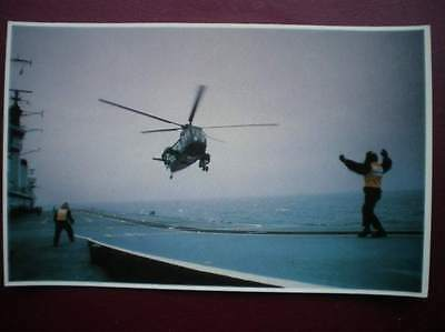 Postcard Rp Wwi Falklands Task Force - Flagging Down A Royal Sea King Helicopter