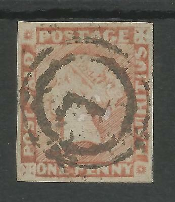 Mauritius  Sg24 The 1859 One Penny Red Brown Latest Impression 4 Margins C.£800