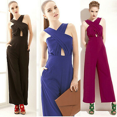 Women Clubwear Backless Playsuit Bodycon Party Jumpsuit Romper Trousers US