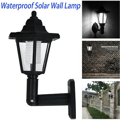 Outdoor LED Solar Power Path Way Wall Landscape Mount Garden Fence Lamp Light AU