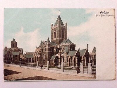 Old Postcard Dublin Christ Church Cathedral Unsent