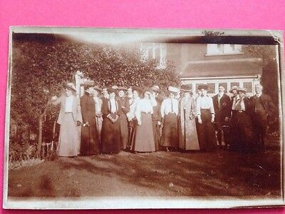 Antique Postcard Social History Group Of People 1900s Real Photo Postcard