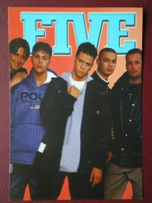 Postcard Musicians Pop Group Five Posing B18
