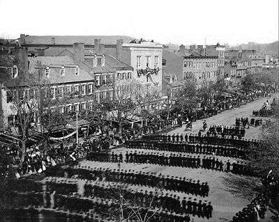 President Lincoln Funeral Procession 1865 11x14 Silver Halide Photo Print