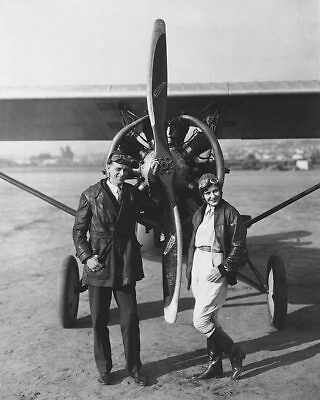 Kathryn Crawford & Otto Timm with Plane 11x14 Silver Halide Photo Print