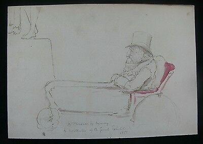 c.1851 Original Caricature of the Duke of Wellington, Possibly by John Paget