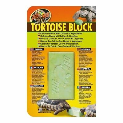 Zoo Med Tortoise Block - Calcium Blocks - Keeps Tortoises Beaks Trimmed