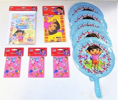 Dora the Explorer Party Pack - Invites Stickers Banner etc - Party Decorations