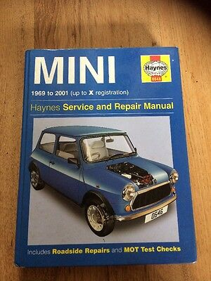 Haynes MINI Service And Repair Manual 1969 To 2001 (up To X Reg)