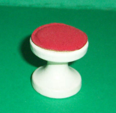 VINTAGE 1970's LUNDBY DOLLS HOUSE RED STOOL