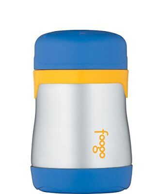 THERMOS FOOGO Vacuum Insulated Stainless Steel 7-Ounce Food Jar, Blue/Yellow