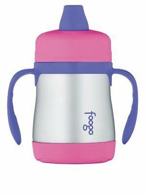 Thermos Foogo Phases Leak Proof Stainless Steel Sippy Cup, 7 Ounce, Pink/Purple