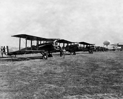 De Havilland DH-4 & Others at Air Races 11x14 Silver Halide Photo Print