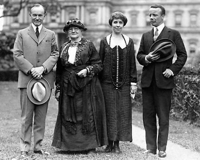 President & Mrs. Coolidge & Mother Jones 11x14 Silver Halide Photo Print