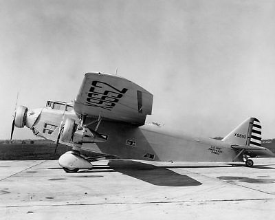 Ford XB-906 Trimotor Bomber Aircraft on Ramp 11x14 Silver Halide Photo Print