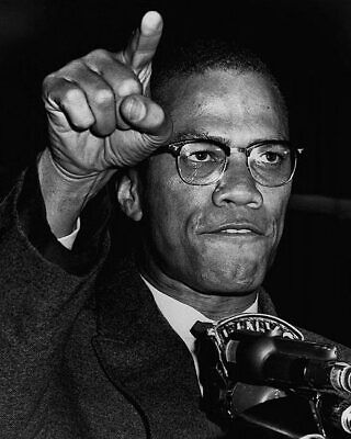 Malcolm X Gesturing During Harlem Rally 1963 11x14 Silver Halide Photo Print
