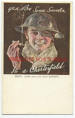 CHESTERFIELD CIGARETTES 1918 Ad - WWI US MARINE SMOKING by LEYENDECKER