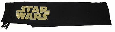 Mens Womens NEW Star Wars Foil Lettering Black Pajama Lounge Pants