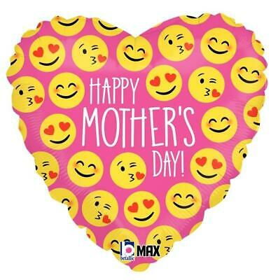 """Happy Mothers Day Emoji 18"""" Foil Balloon"""