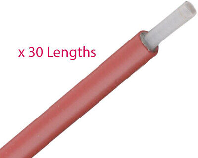 30 x 1.5m Senzo Red Teflon Lined Outer Throttle Cables