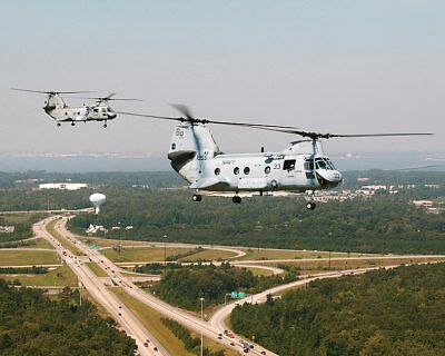CH-46 / CH-46D Sea Knight Helicopters HC-8 11x14 Silver Halide Photo Print