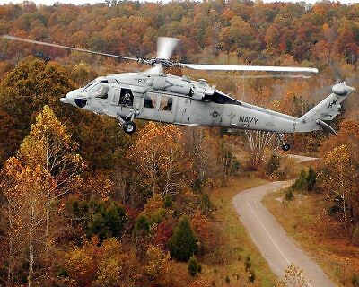 MH-60S KNIGHTHAWK HELICOPTER CHARGERS HC-6 11x14 SILVER HALIDE PHOTO PRINT