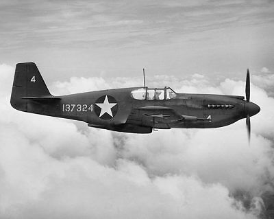 P-51 / P-51C Mustang WWII Fighter 11x14 Silver Halide Photo Print