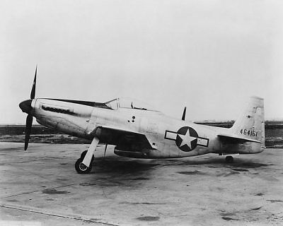 P-51 / P-51C Mustang WWII Fighter Side View 11x14 Silver Halide Photo Print