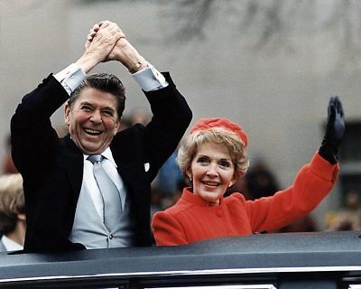 Reagans Wave from Limo on Inauguration Day 1981 11x14 Silver Halide Photo Print