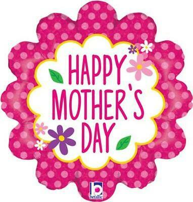 """Happy Mothers Day Flower Garden 18"""" Holographic Foil Balloon"""