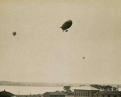 U.S. Army Airships in Formation WWI 11x14 Silver Halide Photo Print