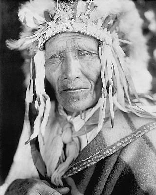 Oglala Sioux Indian Chief Edward S. Curtis 11x14 Silver Halide Photo Print
