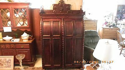 Antique Wooton Like Desk Cabinet Bankers Chest Amazing Piece Of Furniture