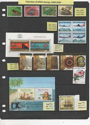 Papua New Guinea collection of MNH stamps priced to clear