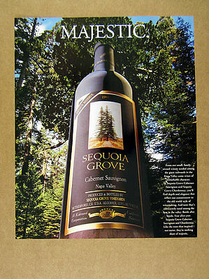 1996 Sequoia Grove Cabernet Sauvignon redwoods wine bottle photo print Ad