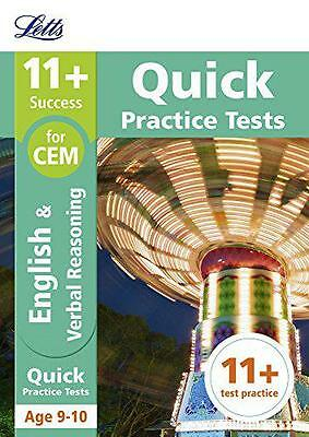 11+ English and Verbal Reasoning Quick Practice Tests Age 9-10 for the CEM tests