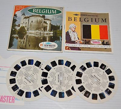 - BELGIUM, Europe VIEW-MASTER Reels B-188 with Packet & Booklet -