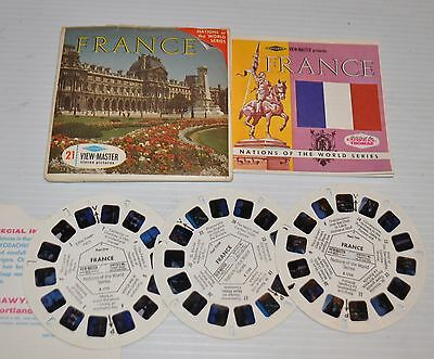 - FRANCE, Europe VIEW-MASTER Reels B-172 with Packet & Booklet -