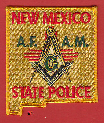 New Mexico State Police Mason Masonic Shoulder Patch