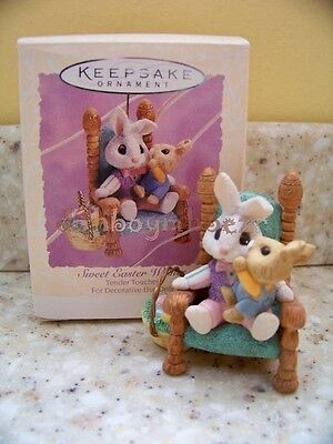 Hallmark 1994 Sweet Easter Wishes Tender Touches Rabbit Spring Ornament