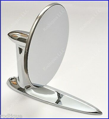 Cadillac Universal Chrome Round Door Mount Mirror Rearview with Gasket & Screws