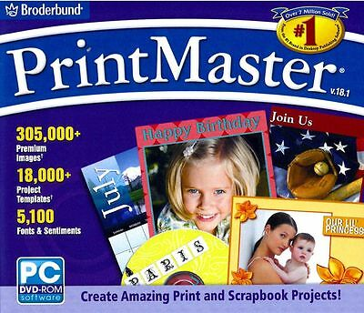 Printmaster 18.1 Platinum - Desktop Publishing Print Project Edit Software -NEW!