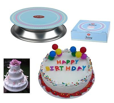 Brand New Round Icing Cake Decorating Turntable Plate With Stainless Steel Stand