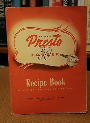 Presto Pressure Cooker 50 Owners Instructions Manual Recipe Book 1945 Vintage